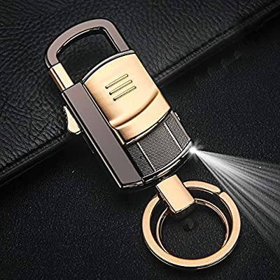 Creative multifunctional keychain men's electronic cigarette lighter usb charging lighter windproof from MC-BLL-Electronic lighter