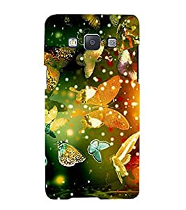 Fuson Designer Back Case Cover for Samsung Galaxy A5 (2015) :: Samsung Galaxy A5 Duos (2015) :: Samsung Galaxy A5 A500F A500Fu A500M A500Y A500Yz A500F1/A500K/A500S A500Fq A500F/Ds A500G/Ds A500H/Ds A500M/Ds A5000 (Butterfly Lovely Beautiful Flying Green)