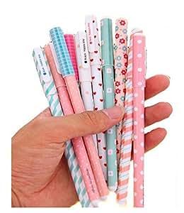 MFEIR® La cancelleria ricariche fresco penna Penne roller a inchiostro gel di colore diamante fresca e bella penna creativa 10 colori Fucsia