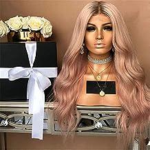 Teñido de pelo largo de las mujeres en la peluca de pelo de fibra