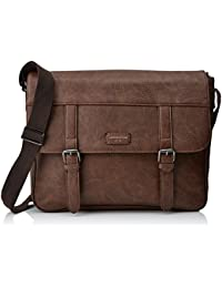 New Look - Core Pu, Shoppers y bolsos de hombro Hombre, Brown (Mid
