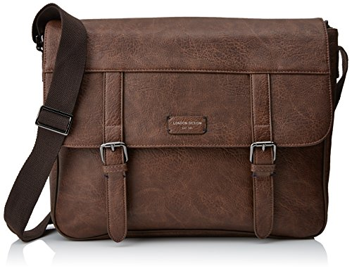 New Look Core Pu, Sacs portés épaule homme, Brown (Mid Brown), 9.8x34x38.5 cm (W x H L)