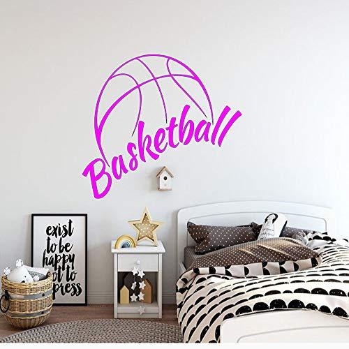 Basketball Stickers Muraux Basket Sport Sport Autocollants Autocollants Garçon Décor de la Chambre Chambre Wall Sticker Papier Peint Étanche Amovible rose Rouge 53x42 cm