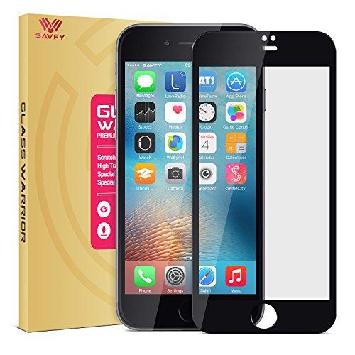 SAVFY iPhone 7 Plus Schutzfolie 9H Panzerfolie Glasfolie 5,5 Zoll, Schwarz
