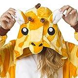 Katara 1744 -Giraffe Kostüm-Anzug Onesie/Jumpsuit Einteiler Body für Erwachsene Damen Herren als Pyjama oder Schlafanzug Unisex - viele verschiedene Tiere -