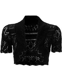 NEW Crochet avant ouverte Veste de Boléro à manches courtes en tricot cardigan Boléro court