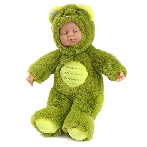 Andensoner Baby Doll Clothes, 25cm Linda Rana Ropa recién Nacido durmiendo Vinilo Suave Reborn Baby Doll Regalo de los niños