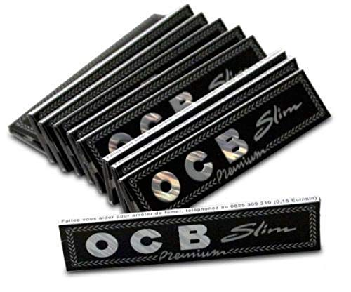 Ocb Slim Premium Rolling Paper (Pack Of 4) (ONE Pack Contains 32 Leaves)