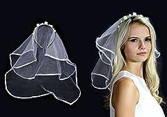 Idea Regalo - Velo da Sposa a Cerchietto con Coroncina di Rose Fiorellini