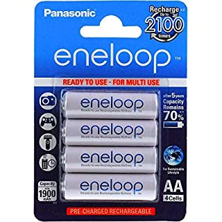 Original Panasonic eneloop HR6 1900mAh NiMH 4er Pack, NiMH, 4x 1,2V