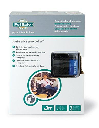 PetSafe Erziehungshalsband, automatische Sprühfunktion, Anti-Bell Hundetraining, Mikrofon Sensor, wetterfest wasserabweisend, umweltfreundlich, Nylonhalsband+Zitronenspray+Batterie, für Hunde 2,7kg+ - 2