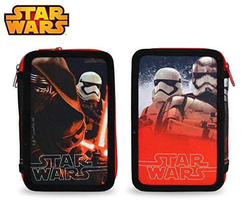 MWS2931 SR16109 Estuche escolar de Star Wars de 3 cremalleras y 43 piezas