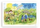 Poster fürs Kinderzimmer von Eva Maria Ott-Heidmann - Sonnenschein und