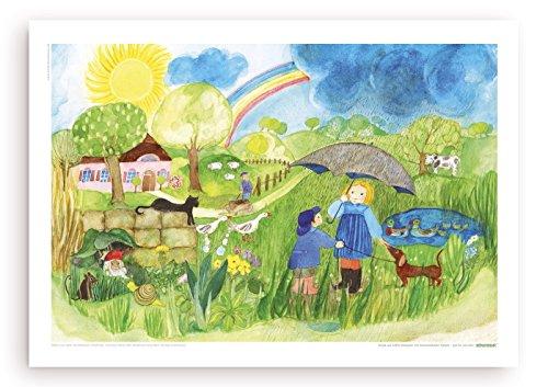 Poster fürs Kinderzimmer von Eva Maria Ott-Heidmann - Sonnenschein und Regen vom schnurverlag
