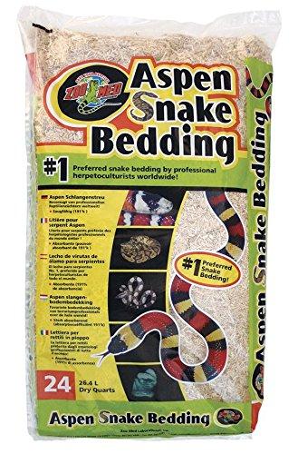 Aspen Holz (Zoo Med SB-24E Aspen Snake Bedding, 26.4 l Bodengrund für Schlangen)
