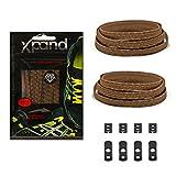 Xpand® Schnürsenkel ohne binden - Flache elastische Schnürsenkel mit einstellbarer Spannung - in alle Schuhe einfach nur hineinschlüpfen (BRAUN REFLECTIVE)