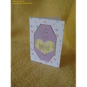 3D Grußkarte zur Geburt Mädchen/Junge, Art. 2842
