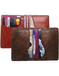 Poland Boys Tan Artificial Leather Card Holder (5 Card Slots)