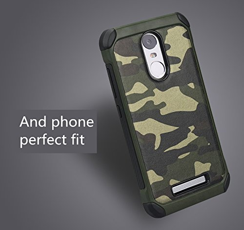 for XiaoMi RedMi Note 3 Case Cover, Hybrid High Impact Shock Absorption Dual Layer [[Army Camouflage]] Armor Defender Back Case Cover For for XiaoMi Redmi Note 3 Back Cover Case Defender Armour Cases (Military Camouflage-Green)