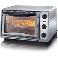Severin TO 2045 - Horno (1500 W, temperatura entre 100 y 230 °C, 20 l, temporizador, grill y rejilla para hornear), color gris