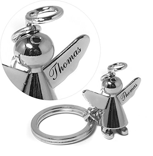 Ein hochwertiger Schutzengel Schlüsselanhänger in Chrom oder Matt