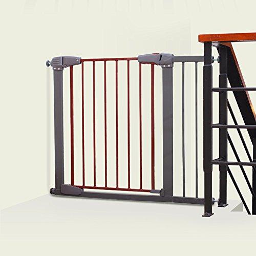 Barrière de sécurité Porte Extra-Large De Gris d'animal Familier De Protecteur De Mur De Porte De Bébé pour L'escalier De Portes D'intérieur 77-173cm Large (Taille : 77-83cm)
