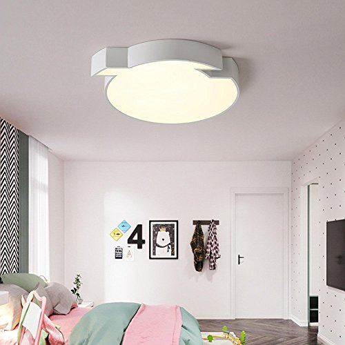 6/3 Lite Kronleuchter Lampe (HOMEE Einfache moderne LED dimmbar Acryl Schatten hohe Durchlässigkeit Eisen Deckenleuchten Schlafzimmer Lichter Wärme romantische kreative Kinder 's Zimmer Lampen,Warm-Light-60CM-39W)