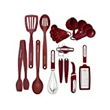 KitchenAid 15tlg Werkzeuge und Gadget Set, schwarz 17-Piece Set rot