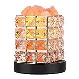 Lampada di Sale, Lampada di Cristalli di Sale Naturale, Aria Purificata Curativo Radiazioni Ionizzanti Lampadine, 2 Lampadine di Ricambio, Luminosità Regolabile (B)