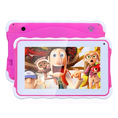 Excelvan 711 - 7 Zoll Kids Tablet PC (Android 4.4, 1024*600 pixel, A33 Duad core, 8GB ROM, dual Kamera, CAMS, WIFI) (rot)