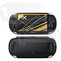 atFoliX Película Protectora para Sony PlayStation Vita Lámina Protectora de Pantalla - Set de 3 FX-Antireflex anti-reflectante Protector Película