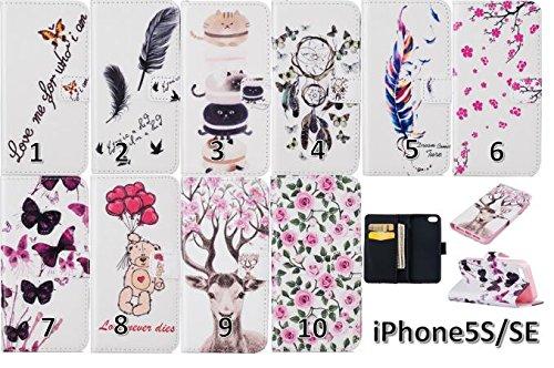 PU Silikon Schutzhülle Handyhülle Painted pc case cover hülle Handy-Fall-Haut Shell Abdeckungen für Smartphone Apple iPhone 5 5S SE +Staubstecker (6WW) 8