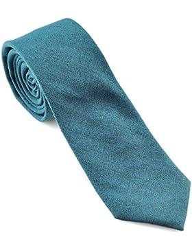 PenSee da uomo Solid skinny cravatta classica sottile tie-various colori