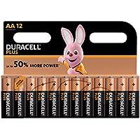 Duracell Plus AA Batterie Stilo Alcaline, Confezione da 12 Pacco del Produttore, 1.5 V LR06 MX1500