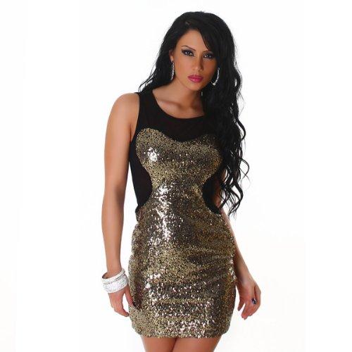JELA London – La mini robe avec des paillettes (2133) Doré