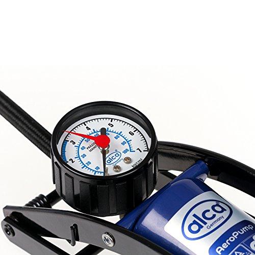 Alca Single Barrel Fuß Luftpumpe mit Präzision Gauge 7bar