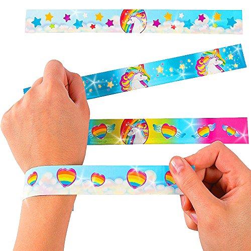German-Trendseller-6-x-licorne-bracelets--claquermlange-pour-enfantslarc-en-ciel-unicorn-lanniversaire-denfantide-cadeau