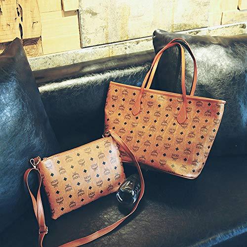 YZJLQML Damentasche DamenbekleidungEinfache und vielseitige Bedruckung tragbare Muttertasche Schulter tragbare Einkaufstasche - gelb