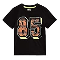 Bluezoo Kids Boys' Black '85' Print T-Shirt Age 6-7