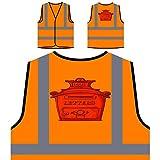 Briefkasten Briefe Neuheit Lustig Personalisierte High Visibility Orange Sicherheitsjacke Weste a783vo