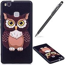 Huawei P9Lite móvil, Huawei P9Lite silicona teléfono móvil, búho