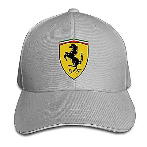 Yhsuk Ferrari Sandwich Peaked Hat/Cap Ash