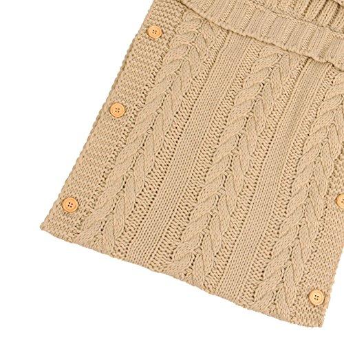 ... Swaddle sacco nanna per bambini 0 – 12 mesi neonato Wrap coperta per  bambini passeggino Wrap Sleep Sacks Button (Beige). Visualizza le immagini dd1f05af0391