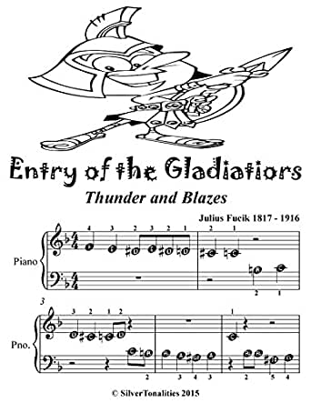 Entry of the Gladiators Thunder and Blazes Beginner Piano Sheet