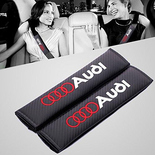Preisvergleich Produktbild Strap-Cover Pad Reise Kissen Sicherheitsgurt für 2 PCs A udi Logo