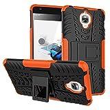 YHUISEN Nouveau cas d'armure hybride double couche détachable [Kickstand] Housse résistante robuste et résistante anti-choc pour OnePlus 3 / OnePlus 3T ( Color : Orange )