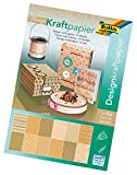 folia 13149 - Design Kraftpapierblock, DIN A4, 12 Blatt