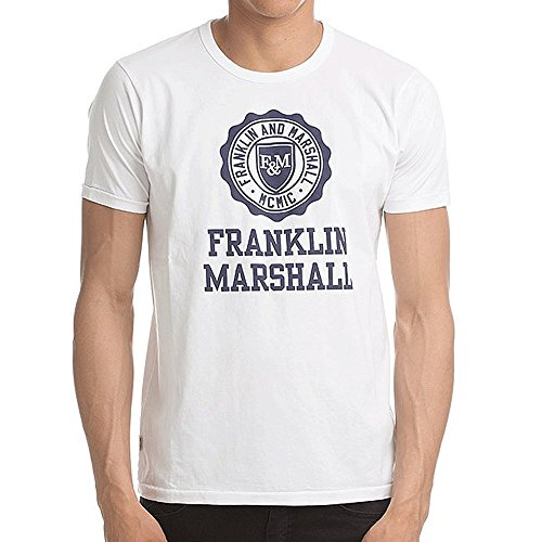 Franklin-Marshall-Big-Logo-T-Shirt-White