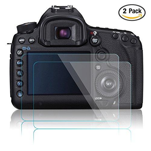 Pellicola Protettiva per Canon EOS 5D Mark III MK IV 5DS 5DSR 5DIII 5DIV, AFUNTA 2 Pacchetto Anti-graffio Vetro Temperato Screen Protector Film (HD Alta Trasparente)