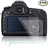 Films de Protection d'Ecran pour Canon EOS 5D Mark III MK IV 5DS 5DSR 5DIII 5DIV, AFUNTA Protecteur de Caméra en Verre Trempé Optique (Pack 2)